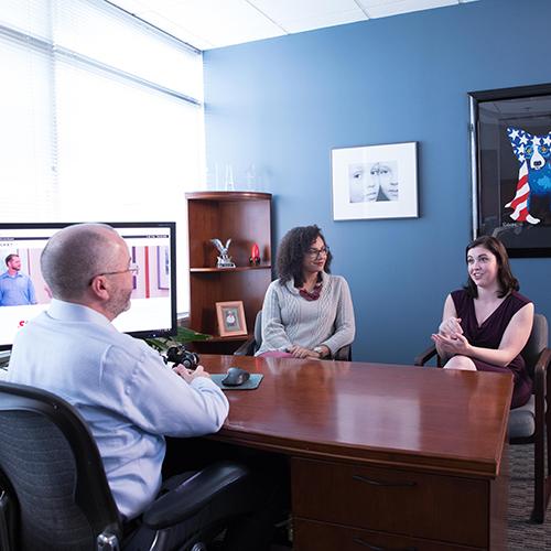 Rocket IT staff meeting in CEO's office